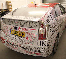 Spot the sugru car!