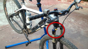 Improve an MTB front shock lock out lever