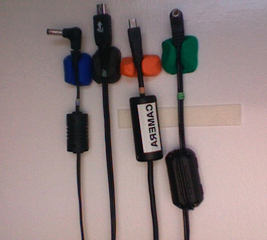 Make cool cable hooks