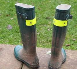 Add a reflective strip to your wellies
