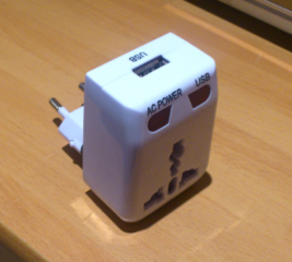 Fix a poorly designed travel adapter plug