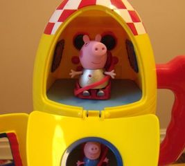 Replace a Peppa Pig rocket seat belt