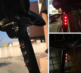 Install lights on a bike