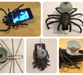 Create a hanging iPhone spider charging dock