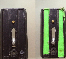 Replace rubber pads on a tripod base-plate