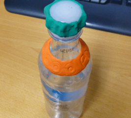 Personalise and re-use a plastic bottle