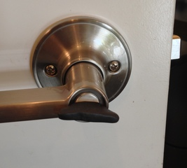 Make a door lock easier to turn