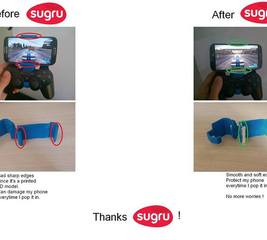 Smoothen the edges on a controller mount for your smartphone