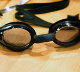Modify swimming goggles to fit
