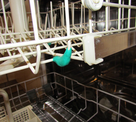 Repair a rusty dishwasher rack