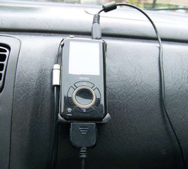 Make a car dash mount for an MP3 player