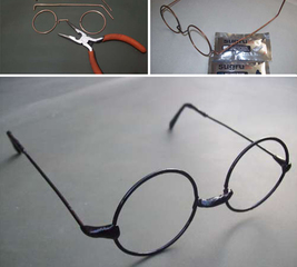Make Harry Potter wire glasses