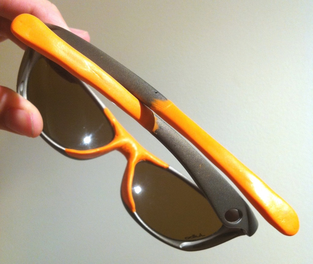 Fix a worn pair of sunglasses