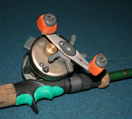 Add comfort to an angling rod handle