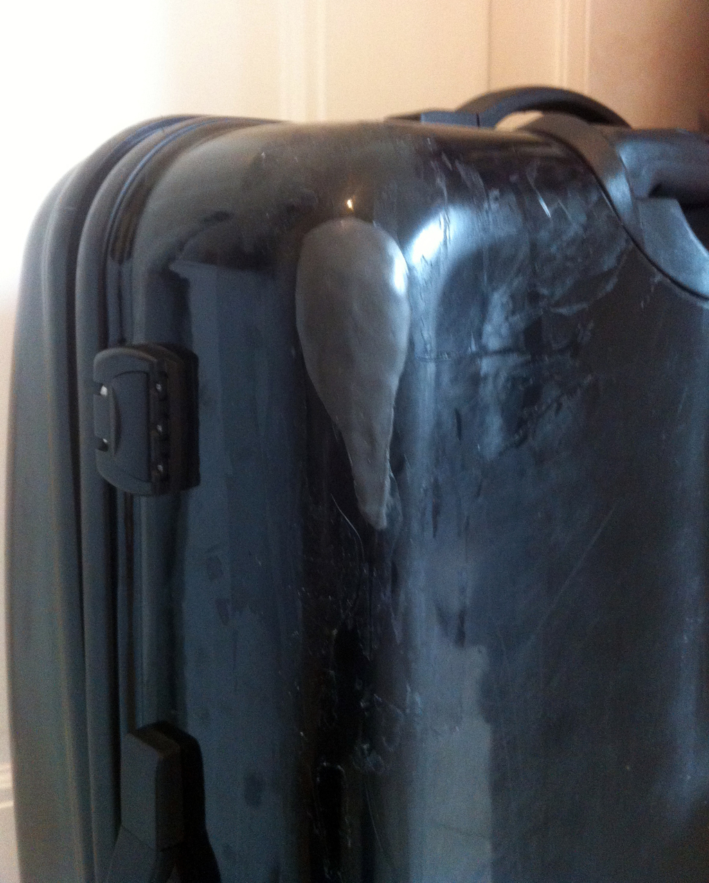 Patch up a hard shell suitcase