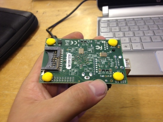 Add grippy feet to a Raspberry Pi