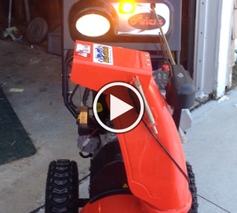 Add visibility to a snow blower
