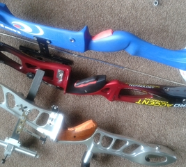 Add grips to an archery bow