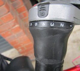 Replace a bike gear twist shifter