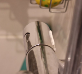 Make a shower handle non-slip
