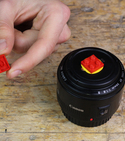 Lego-ify your lens cap - keep your camera kit handy!