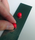 Make a steel ruler anti-slip